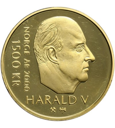 Norway 1500 Kronor 2000, Miliennium