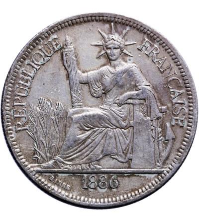 Indochiny Francuskie 1 Piastre 1886 A