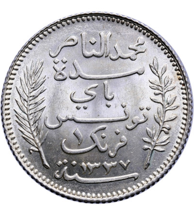 Tunezja 1 frank AH 1337 / 1918 AD