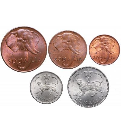 Somalia 1, 5, 10, 50 Centesimi 1 Somalo - zestaw 5 sztuk