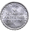 Switzerland 5 Francs 1944 B