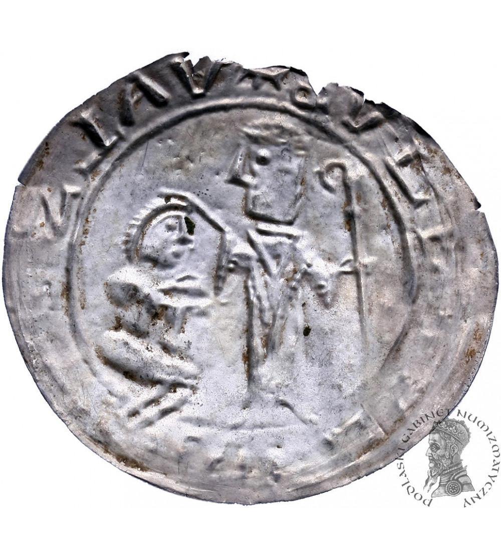 Polska. Bolesław III Krzywousty 1102-1138. Brakteat protekcyjny ok. 1113-1138
