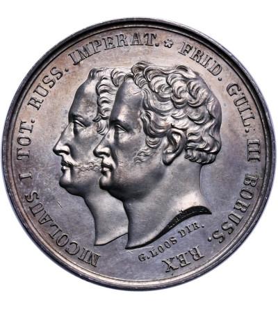 Rosja. Mikołaj I 1825-1855, medal autorstwa L. Helda wybity z okazji manewrów rosyjsko-pruskich w Kaliszu w 1835 roku