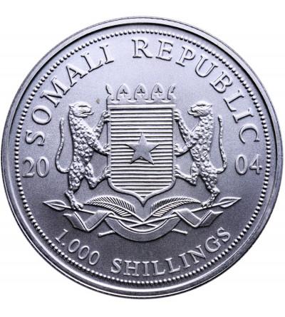 Somalia 1000 szylingów 2004, słoń