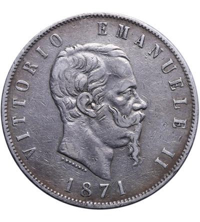 Włochy 5 Lire 1871 M BN, Vittorio Emanuele II