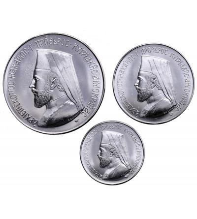 Cypr 3, 6, 12 funtów 1974, Makarios III