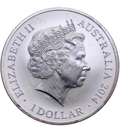Australia 1 dolar 2014, kangur - prywatna emisja F15