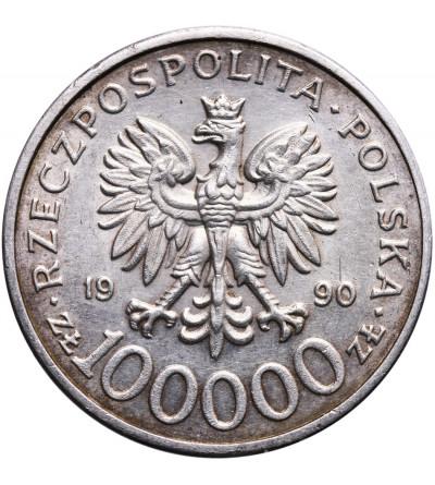 Polska 100000 złotych 1990, Solidarność - typ C