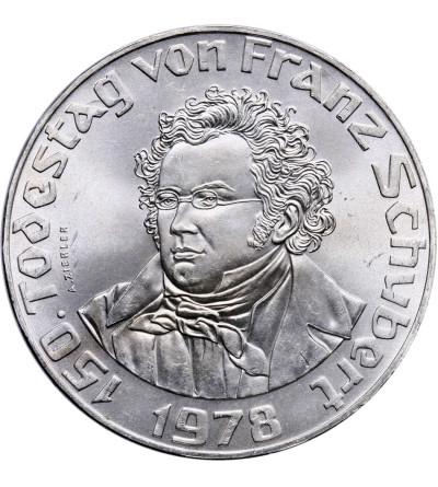 Austria 50 szylingów 1978, 150 rocznica śmierci Franza Schuberta