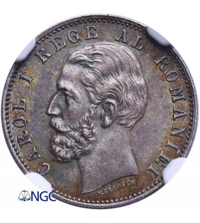 Romania 50 Bani 1884 B - NGC MS 62