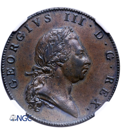 Bermudy 1 Penny 1793 - NGC MS 61 BN