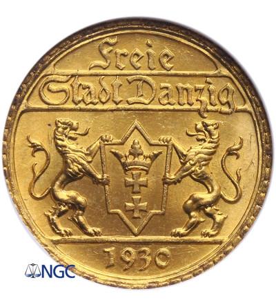 Danzig Free City 25 Gulden 1930, Berlin - NGC MS 66