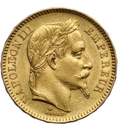 France 20 Francs 1866 BB, Strasburg, Napoleon III
