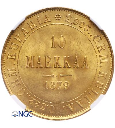 Finlandia 10 marek 1879 S - NGC MS 65