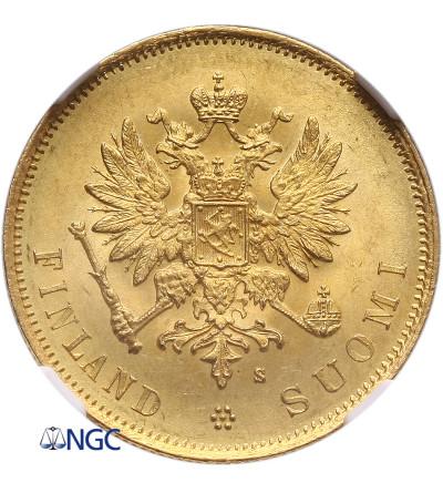 Finland 10 Markkaa 1879 S - NGC MS 65