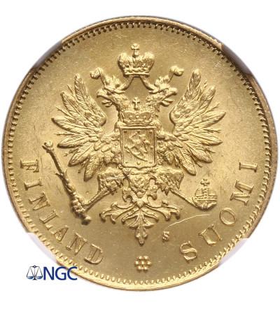 Finland 10 Markkaa 1882 S - NGC MS 62