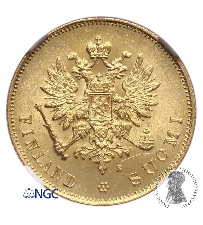 Finlandia 10 marek 1882 S - NGC MS 62