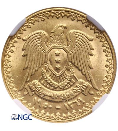 Syria Pound AH 1369 / 1950 AD - NGC MS 66
