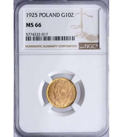 Polska 10 złotych 1925, Bolesław Chrobry - NGC MS 66