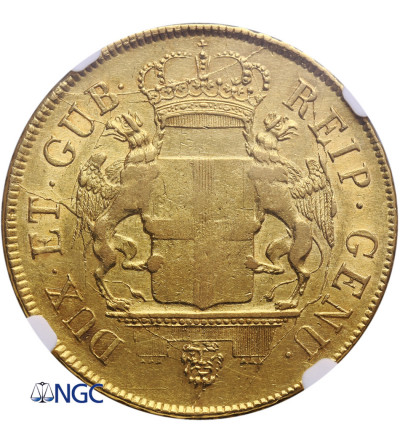 Włochy Genoa 96 Lire 1796 - NGC AU 53