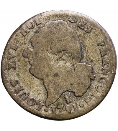 Francja 15 Sols (1/8 Ecu) 1791 I, Limoges