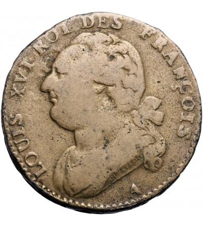 Francja 12 Deniers 1792 A, Paryż