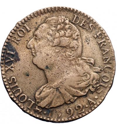 Francja 2 Sols 1792 A, Paryż