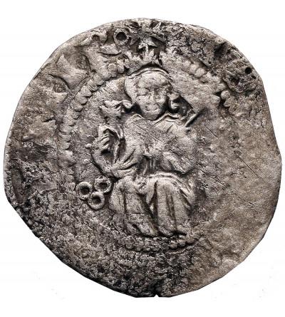 Poland. Kazimierz Wielki (Casimir The Great) 1333-1370. Kwartnik (Half Grosschen) no date, Krawow Mint