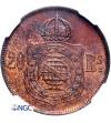 Brazylia 20 Reis 1869 - NGC MS 64 RB