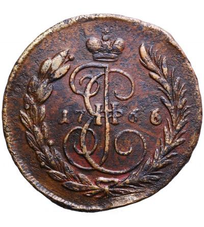 Rosja 1 kopiejka 1766/3 MM, Moskwa (Krasnyj Dvor)