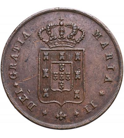 Portugalia 10 Reis 1838, Maria II 1834-1853