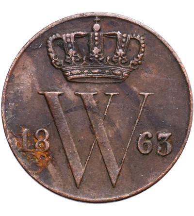Netherlands 1/2 Cent 1863