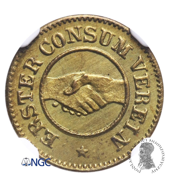 Rosja. Ryga Token 5 (Marek) 1865, Erster Consum Verein / Riga MDCCCLXV - NGC MS 65