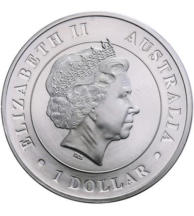 Australia 1 dolar 2015 P, pająk sieciowy (platerowany złotem)