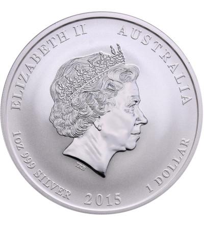 Australia 1 dolar 2015 P, Zodiak Rok Kozy - kolor