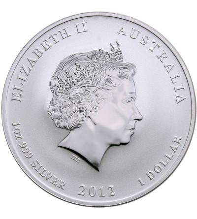 Australia 1 dolar 2012 P, Rok Smoka (smok w kolorze żółtym i lawendowym)