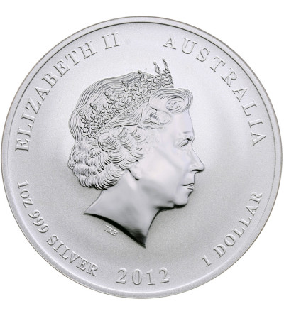 Australia Dollar 2012 P, Year of the Dragon (Dragon colored purple and grey)