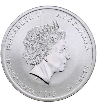 Australia 50 centów 2015, rok kozy (1/2 Oz Ag)