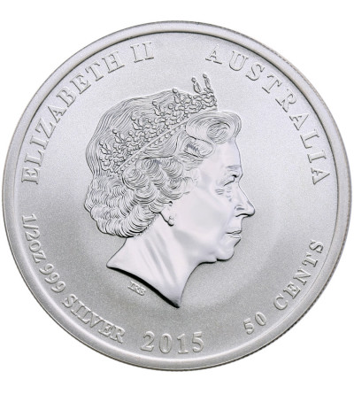 Australia 50 Cents 2015, Year of the Goat (1/2 Oz Ag)