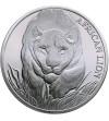 Czad 5000 franków 2017, lew afrykański (1 Oz Ag)