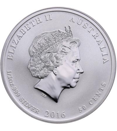 Australia 50 centów 2016 P, Zodiak Rok Małpy (1/2 Oz Ag)