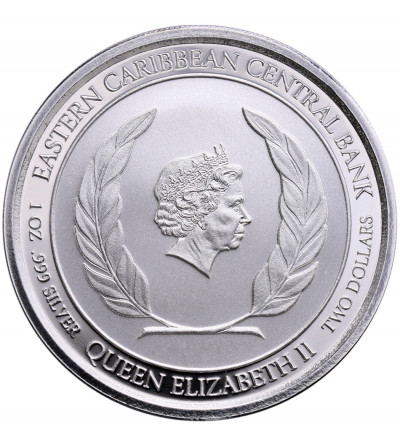 Karaiby Wschodnie 2 dolary 2018, St. Kitts & Nevis (1 Oz Ag)