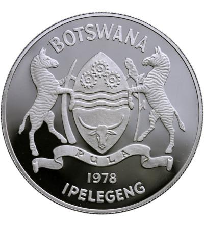 Botswana 10 Pula 1978, koziołek skalny - Proof