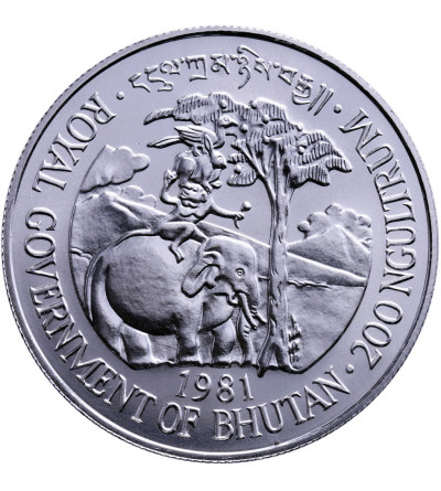 Bhutan 100 Ngultrums 1981, International Year of Disabled Persons