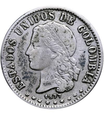 Kolumbia 20 Centavos 1877