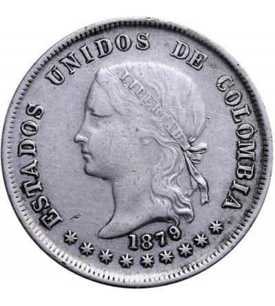 Kolumbia 50 Centavos 1879