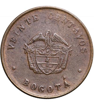 Kolumbia 20 centavos 1901, bogota