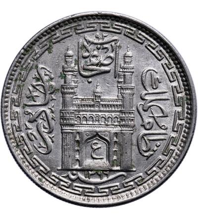 India - Hyderabad 8 Annas AH 1366 rok 37 / 1946 AD