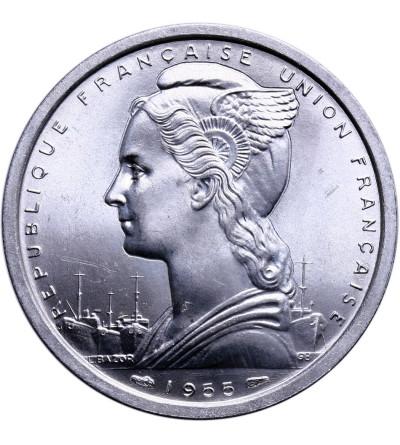 Francuska Afryka Zachodnia 2 franki 1955