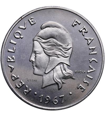 Francuska Polinezja 50 franków 1967 - ESSAI (próba)